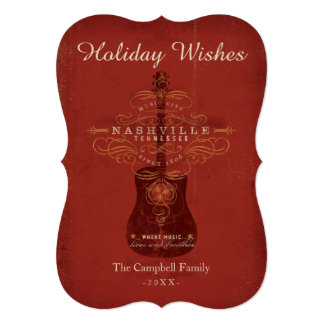 Desejos do feriado de Nashville Convite 12.7 X 17.78cm