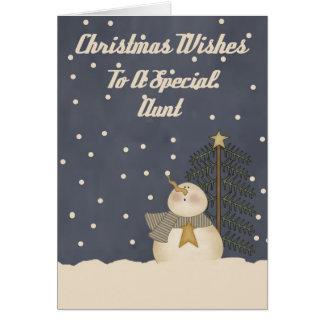 Desejos do Natal a uma tia especial Cartão Comemorativo