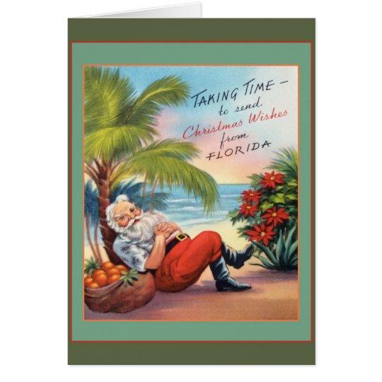 Desejos do Natal de Florida! Cartão Comemorativo