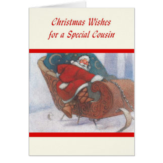 Desejos do Natal para um primo especial Cartão Comemorativo