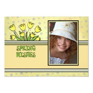 Desejos do primavera - cartão do feriado do convite 12.7 x 17.78cm
