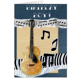 Desejos musicais cartão comemorativo