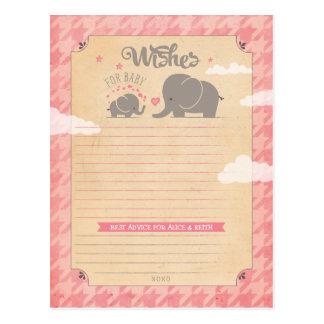 Desejos para o bebé - cartões do conselho do