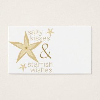 Desejos salgados da estrela do mar dos beijos cartão de visitas