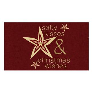 Desejos salgados do Natal dos beijos Modelo Cartões De Visitas