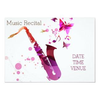 Desempenho bonito do concerto do saxofone do convite 12.7 x 17.78cm
