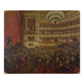 """Desempenho de """"Hernani"""" por Victor Hugo Impressão"""