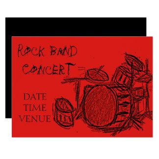 Desempenho do concerto do grupo de rock convite 12.7 x 17.78cm