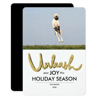 Desencadeie seu cartão de Natal engraçado da foto