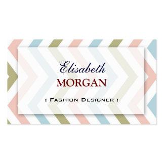 Desenhador de moda - Chevron gracioso natural Cartão De Visita