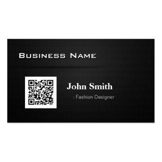 Desenhador de moda - com código do negócio QR Cartão De Visita