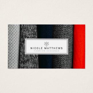 Desenhador de moda dos tecidos cartão de visitas