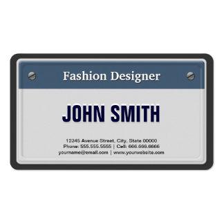 Desenhador de moda - matrícula legal do carro modelos cartões de visitas