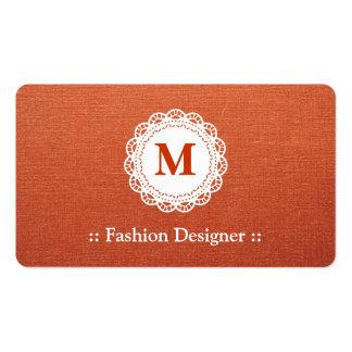 Desenhador de moda - monograma elegante do laço modelo cartoes de visitas