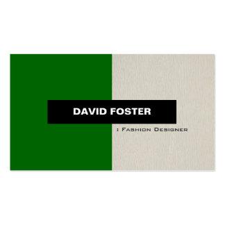 Desenhador de moda - na moda elegante simples cartão de visita