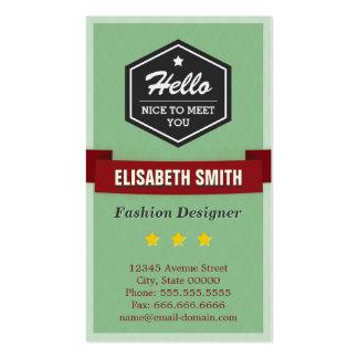 Desenhador de moda - na moda retro do vintage cartão de visita