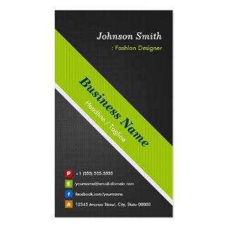 Desenhador de moda - preto e verde superiores cartão de visita