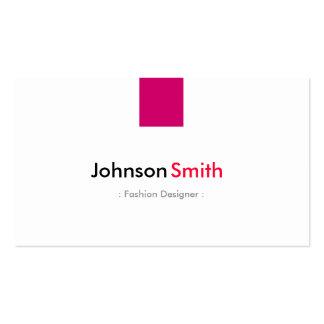 Desenhador de moda - rosa cor-de-rosa simples cartão de visita