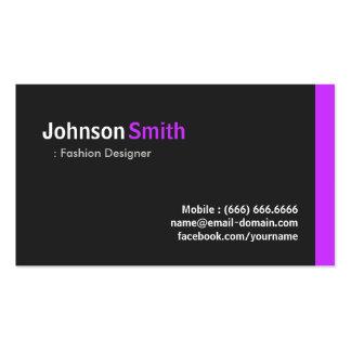 Desenhador de moda - roxo mínimo moderno modelos cartões de visitas