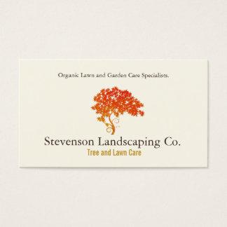 Desenhista da paisagem do cuidado do gramado do cartão de visitas
