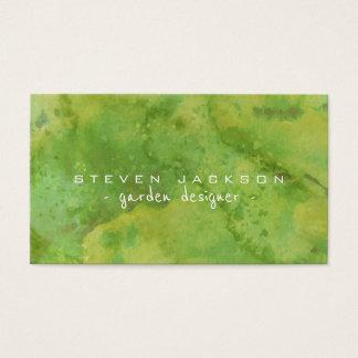 Desenhista de jardim abstrato legal do verde da cartão de visitas