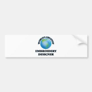 Desenhista do bordado do mundo o grande adesivo para carro