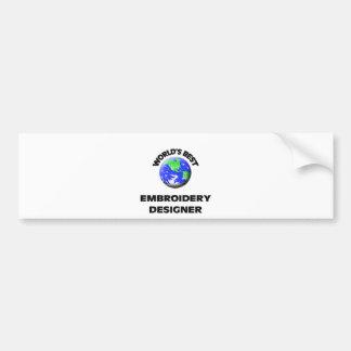 Desenhista do bordado do mundo o melhor adesivo para carro