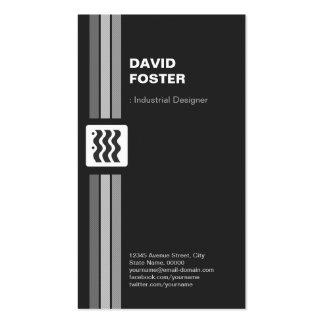Desenhista industrial - o dobro superior tomou par modelo cartoes de visita