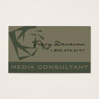 Desenhista na moda musgo do consultante de meios cartão de visitas