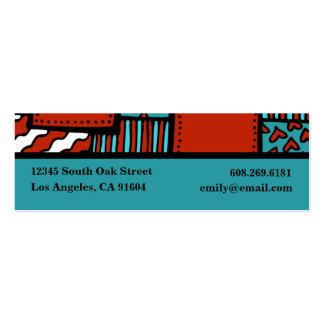 Desenhista preto vermelho do boutique da forma alt cartao de visita