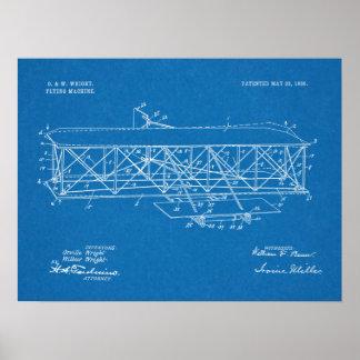 Desenho 1906 da arte da patente do avião dos pôster