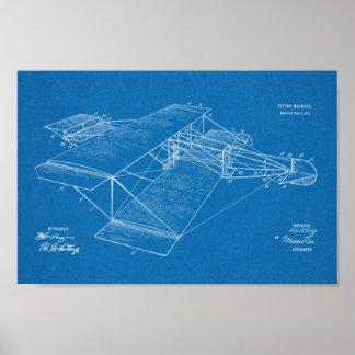 Desenho 1911 da arte da patente do avião da pôster