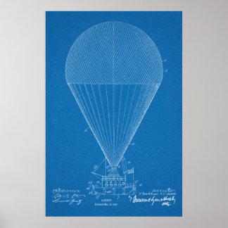 Desenho 1913 da arte da patente do avião do pôster