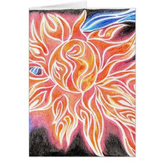 desenho abstrato de incandescência elétrico dos cartão comemorativo