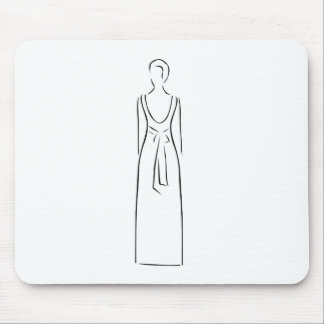 Desenho abstrato de vestir-se magro da mulher mouse pad