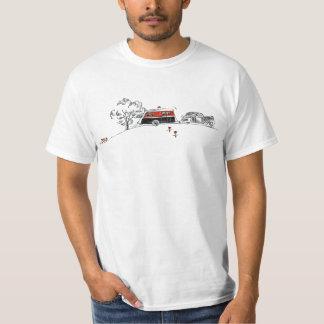 Desenho antigo do campista e do carro do rv tshirts