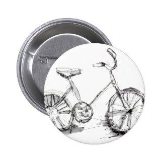 Desenho artístico bonito da bicicleta botons