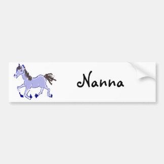 Desenho azul do cavalo adesivo