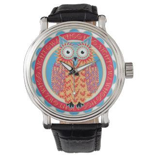 Desenho bonito da coruja pequena de Hoo Hoo em Relógios