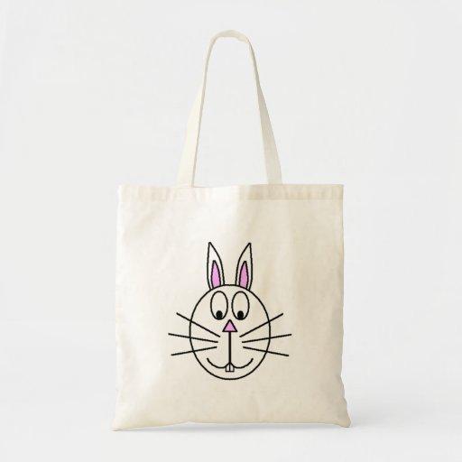 Desenho branco grande dos desenhos animados do coe bolsas para compras