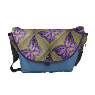 Desenho colorido da borboleta bolsas mensageiro