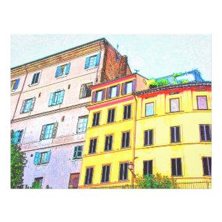 Desenho da arquitetura de Roma Modelo De Panfleto