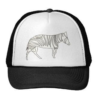 Desenho da arte do esboço da zebra em chapéus bones