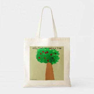 Desenho da árvore da criança sacola tote budget