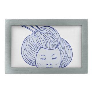 Desenho da cabeça da menina de gueixa