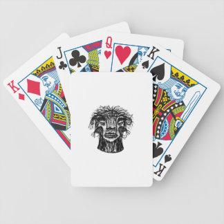 Desenho da cabeça do monstro da fantasia cartas de baralho