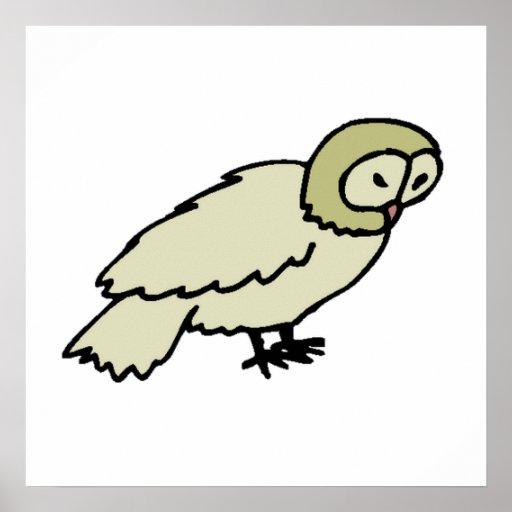 Desenho da coruja poster