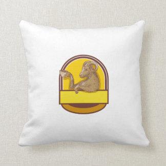Desenho da crista do café do bebendo da cabra da almofada