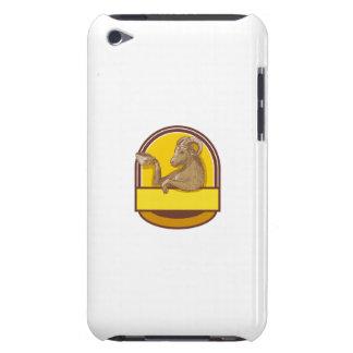 Desenho da crista do café do bebendo da cabra da capa para iPod touch