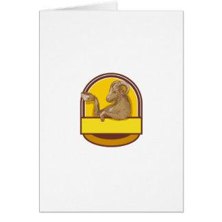 Desenho da crista do café do bebendo da cabra da cartão